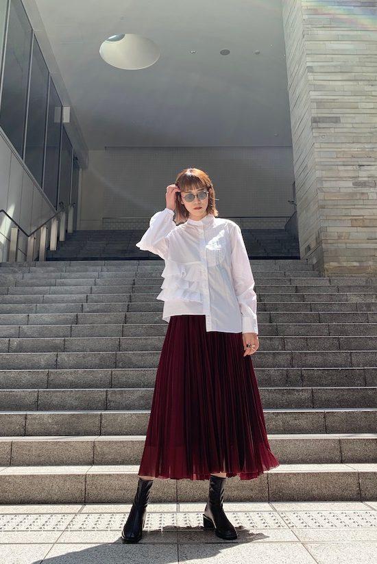 kolor アシンメトリーラッフルシャツ 【20AW】
