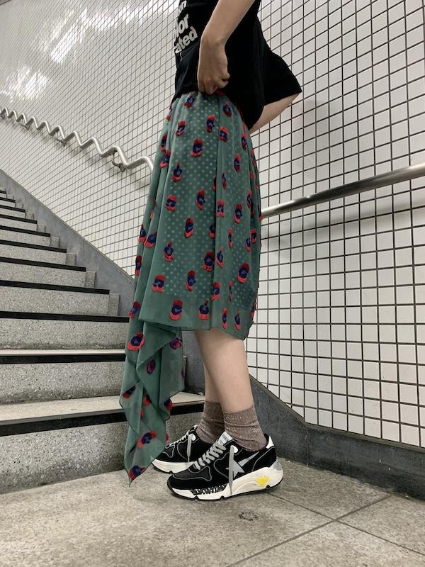 kolor 総柄アシンメトリースカート 【20AW】