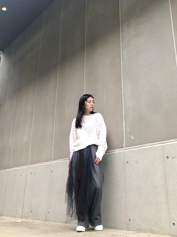 kolor チュールレイヤードパンツ 【20AW】