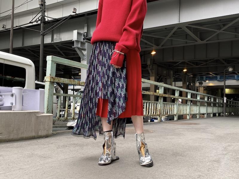 kolor 【40%OFF】ラッププリーツスカート