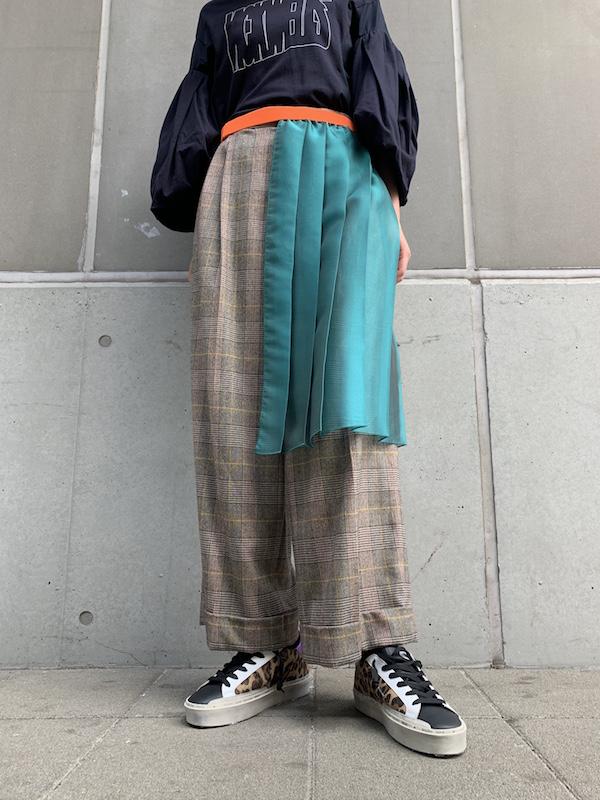 kolor プリーツレイヤードパンツ