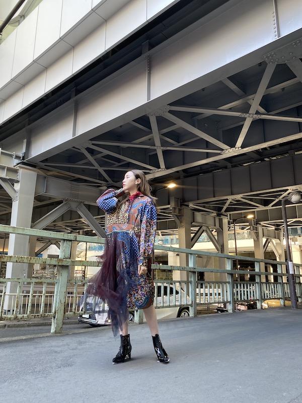 kolor 【40%OFF】マルチプリントレイヤードワンピース