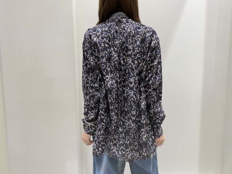 08 SIRCUS 【50%OFF】プリントギャザーブラウス