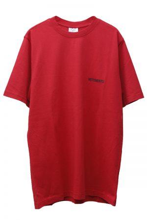 VETEMENTS LOGO FONT BACK Tシャツ 【20AW】