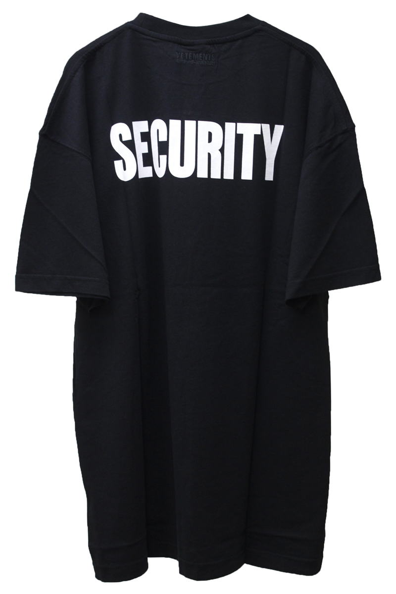 VETEMENTS SECURITY Tシャツ  【20AW】