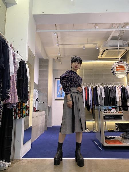 rokh 【50%OFF】プリーツインサートスカート