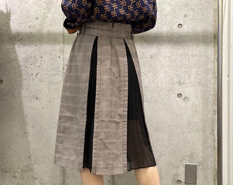 rokh プリーツインサートスカート【20AW】