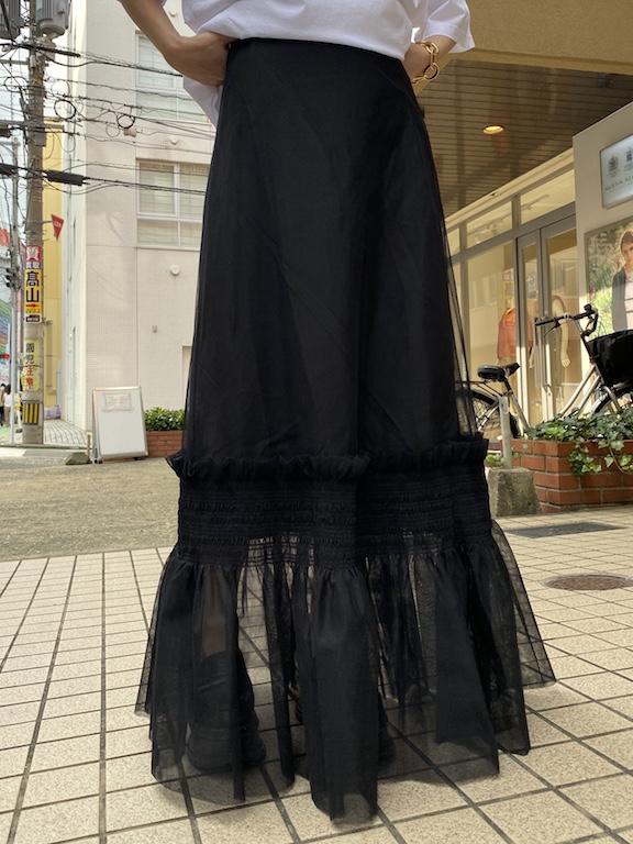 rokh チュールロングスカート【20AW】