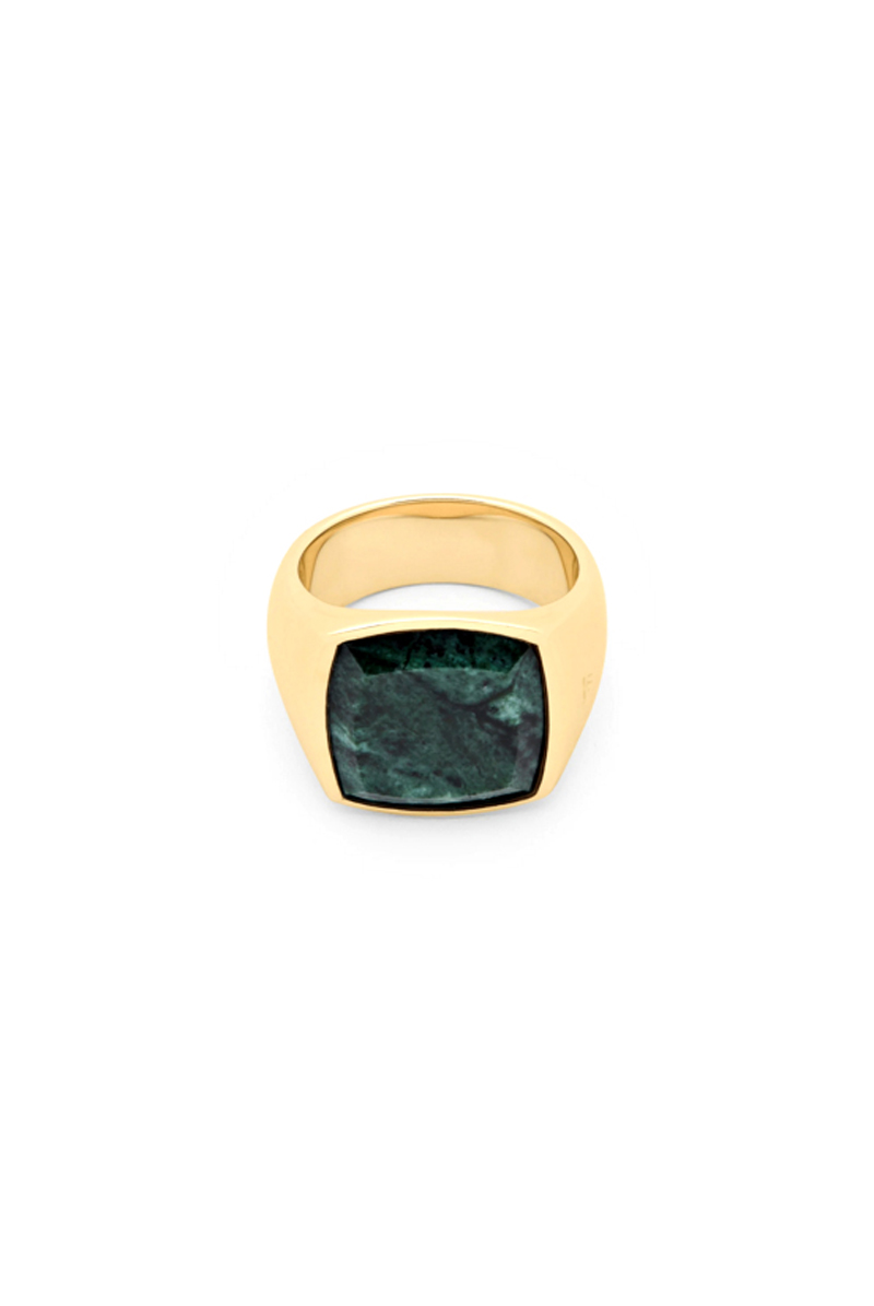 TOM WOOD Cushion Gold Green Marble