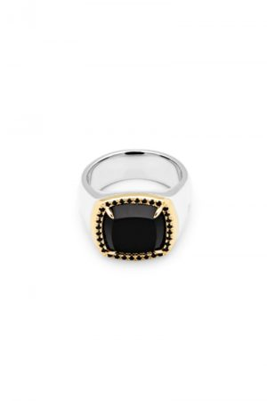 TOM WOOD May Ring Black Onyx Diamond