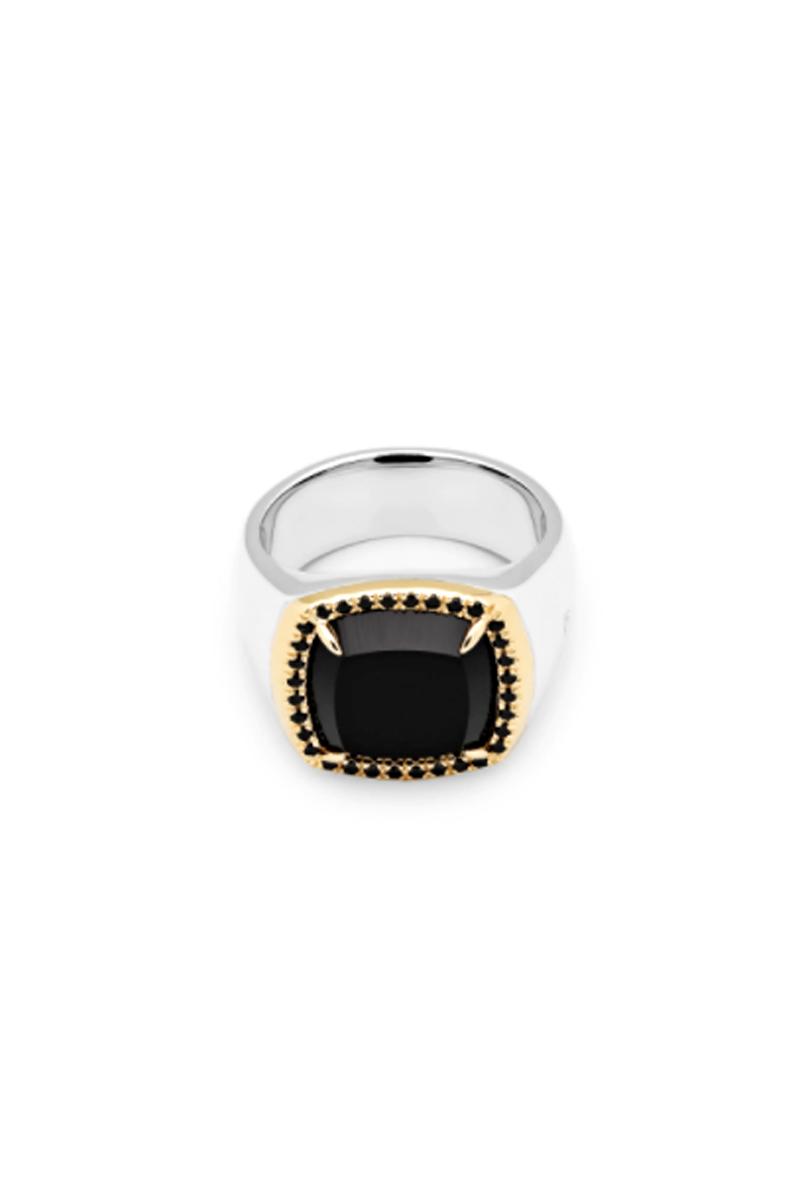 TOM WOOD May Ring Black Onyx Diamond