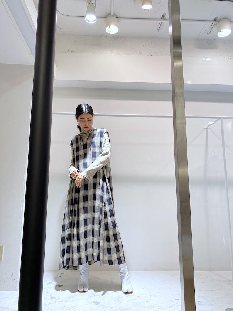 FEMMENT チェック柄ロングワンピース【20AW】