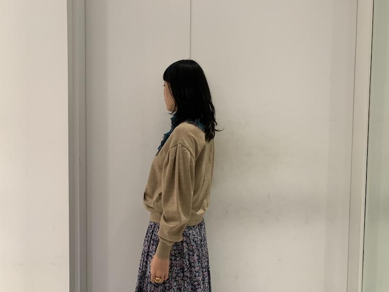 kolor 【40%OFF】切替ボウタイカーディガン