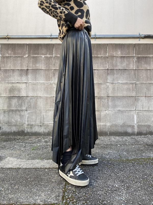 ISABEL MARANT 【40%OFF】フェイクレザープリーツスカート