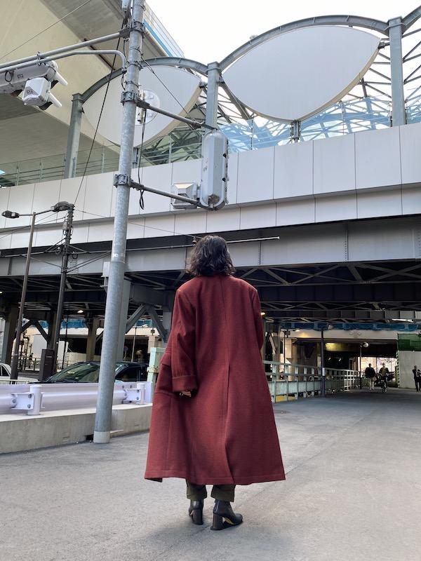 JOHN LAWRENCE SULLIVAN 【50%OFF】千鳥格子オーバーサイズコート