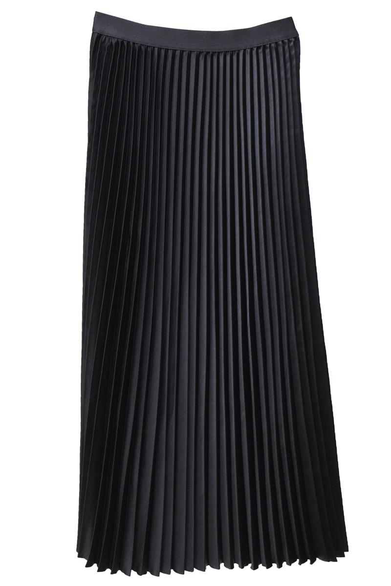 08 SIRCUS サテンプリーツスカート [20AW]