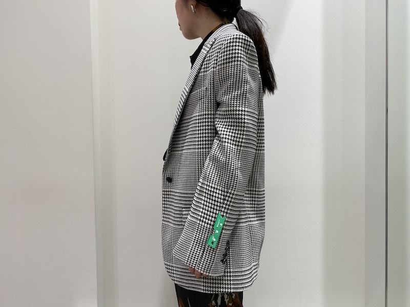 OFF-WHITE 千鳥格子TOMBOYジャケット [20AW]