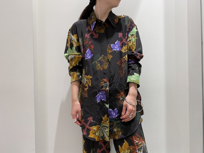 OFF-WHITE 【30%OFF】リーヴスベイシックシャツ [20AW]