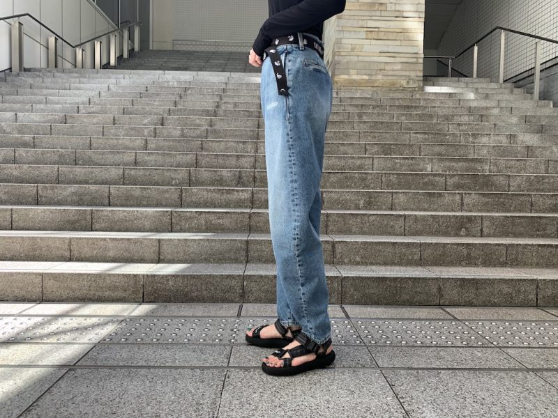 OFF-WHITE DENIM BANANAパンツ  [20AW]