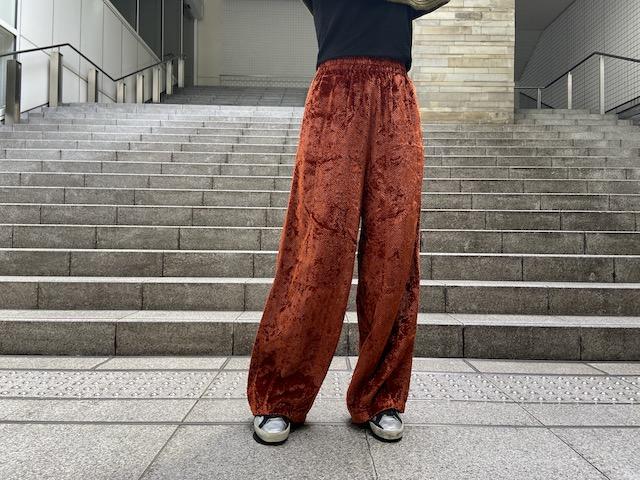 STAND ALONE ベルベットワイドパンツ【20AW】