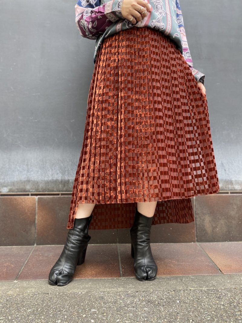 STAND ALONE ラッププリーツスカート
