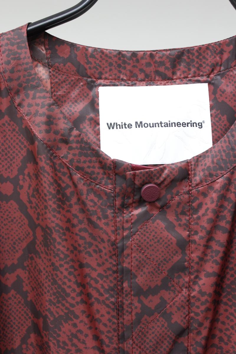White Mountaineering パイソンノーカラーカート  [20AW]