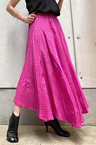 BALENCIAGA ドットロングスカート  [20AW]