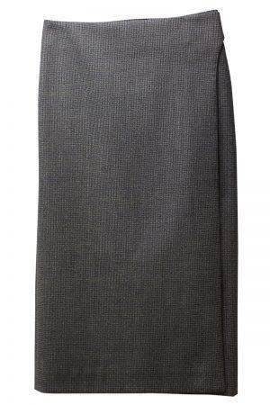 BALENCIAGA 千鳥格子スリットスカート [20AW]