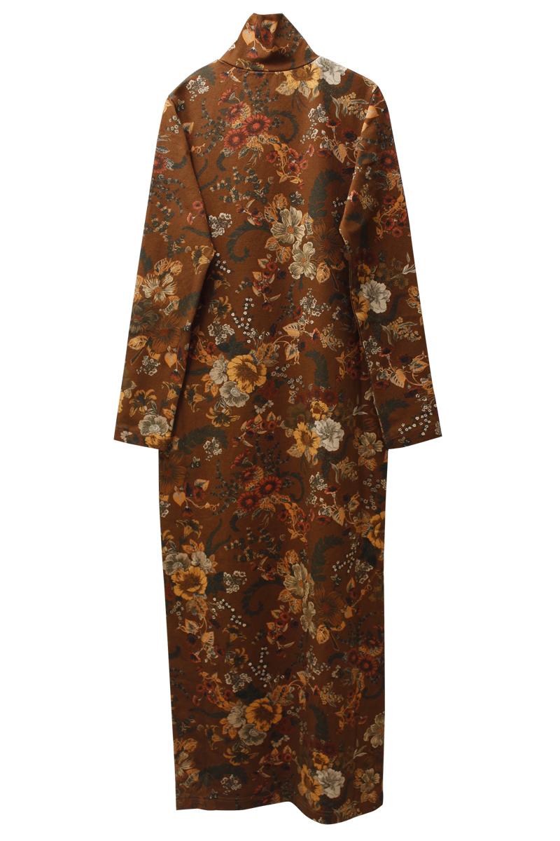 BALENCIAGA 花柄タートルネックドレス
