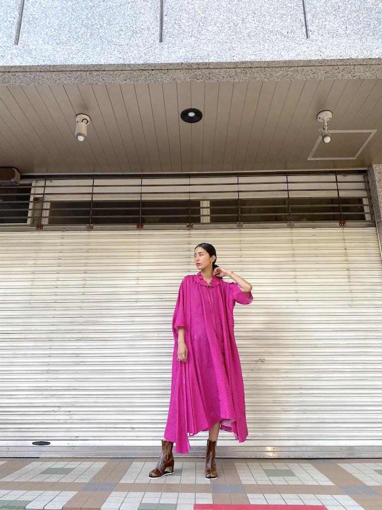 BALENCIAGA ラッフルカラードレス【20AW】