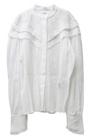 ISABEL MARANT ETOILE 【50%OFF】刺繍レースフリルブラウス