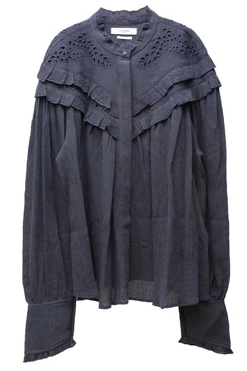 ISABEL MARANT ETOILE 刺繍レースフリルブラウス【20AW】
