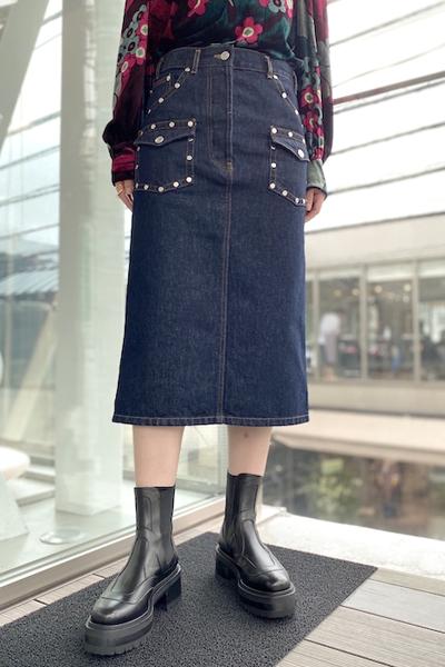 DRIES VAN NOTEN SILVAT BISスカート【20AW】