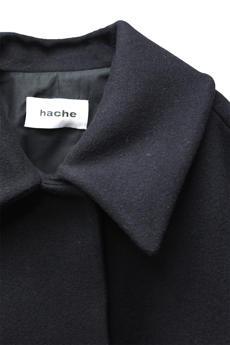 HACHE 裾フリンジショートコート【20AW】