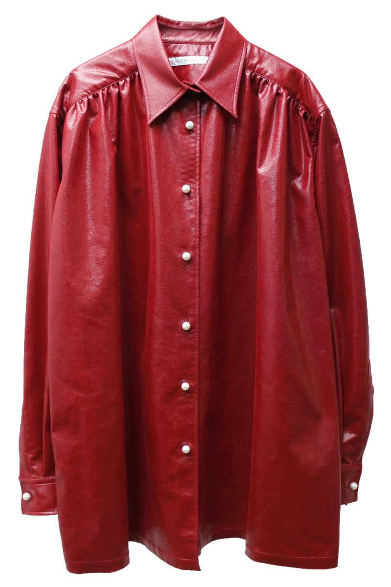 JOHN LAWRENCE SULLIVAN オーバーサイズギャザーシャツ  [20AW]