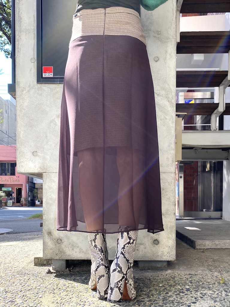 rokh 【40%OFF】OVER LAYER ミディスカート