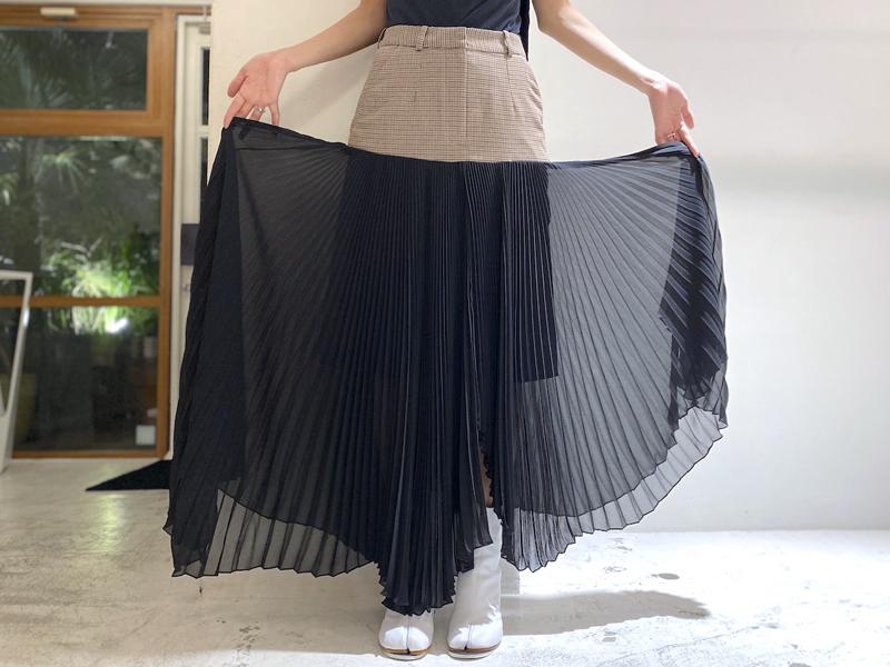 rokh 【50%OFF】FALLEN PLEATスカート