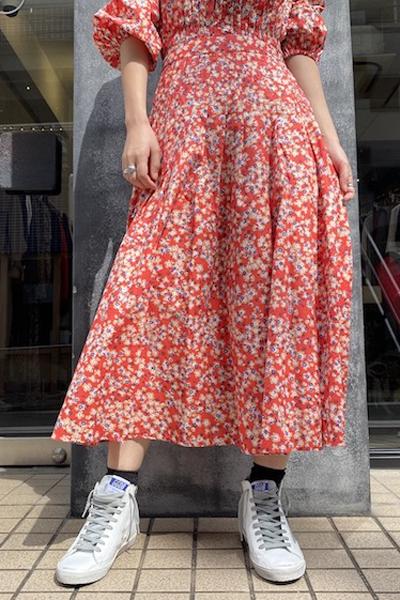Merlette 【40%OFF】花柄フレアスカート