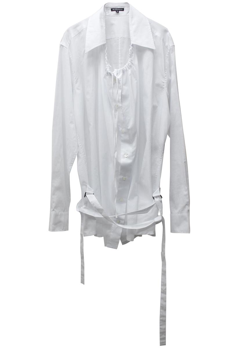 ANN DEMEULEMEESTER .【40%OFF】コットンフレアシャツ