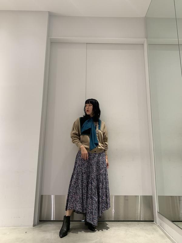 ISABEL MARANT ETOILE .【40%OFF】総柄ロングフレアスカート
