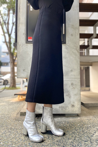 BALENCIAGA リブニットスカート