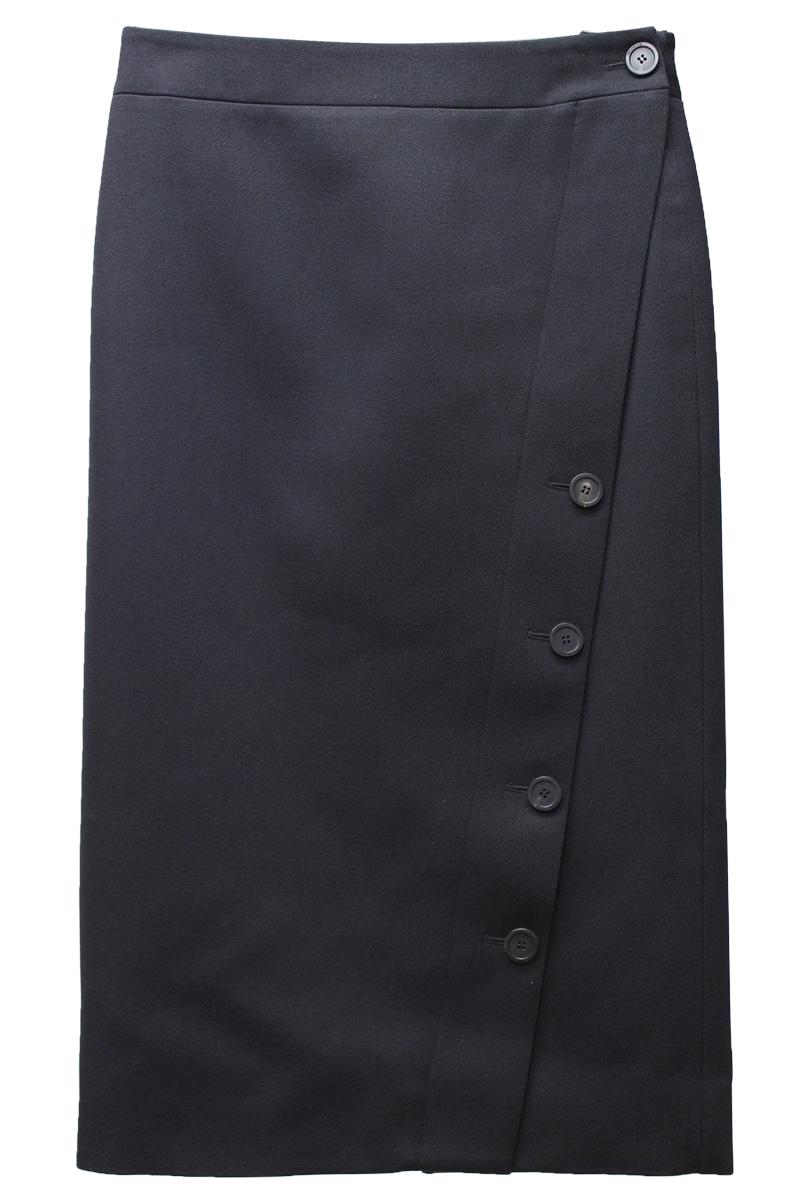 BALENCIAGA ボタンスリットスカート