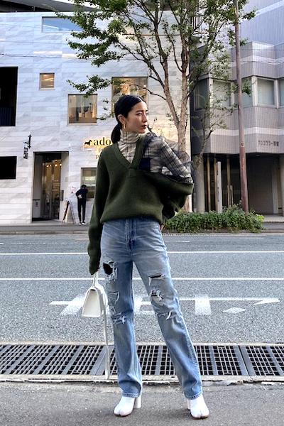 BALENCIAGA ダメージデニムパンツ【20AW】