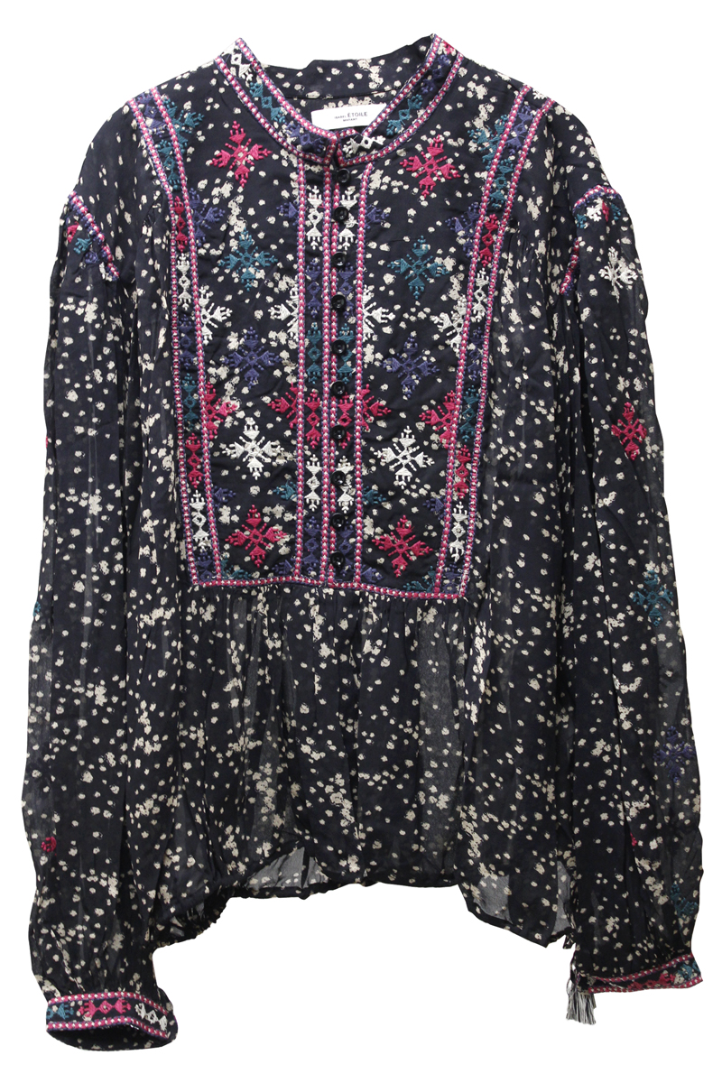 ISABEL MARANT ETOILE 【40%OFF】総柄刺繍ブラウス