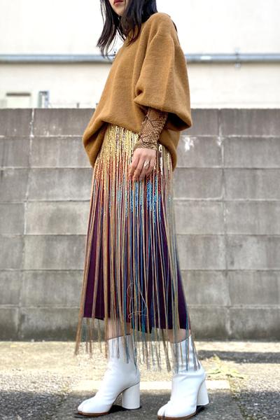 DRIES VAN NOTEN SALBY LONG EMBスカート【20AW】