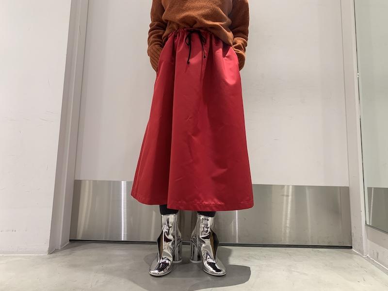 HACHE 【40%OFF】ウエストギャザースカート