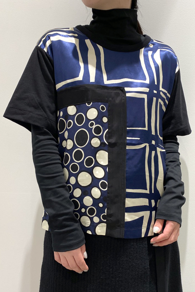 MARNI 【30%OFF】スカーフ柄半袖カットソー