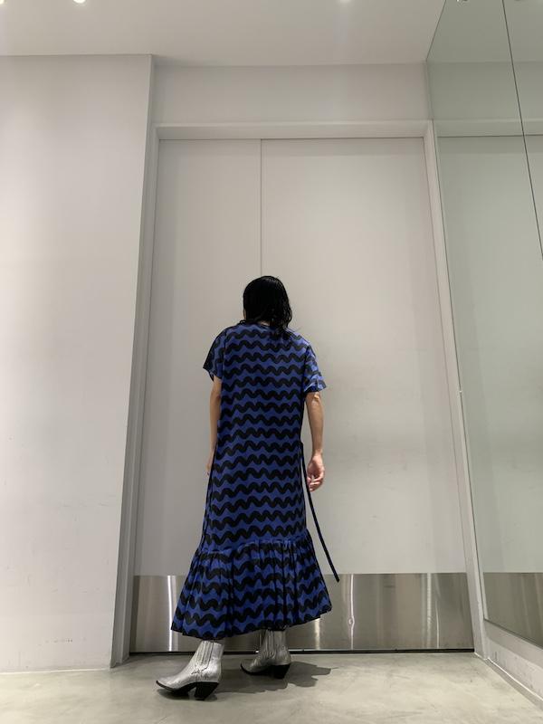 Christian Wijnants 総柄Vネック半袖ワンピース【20AW】