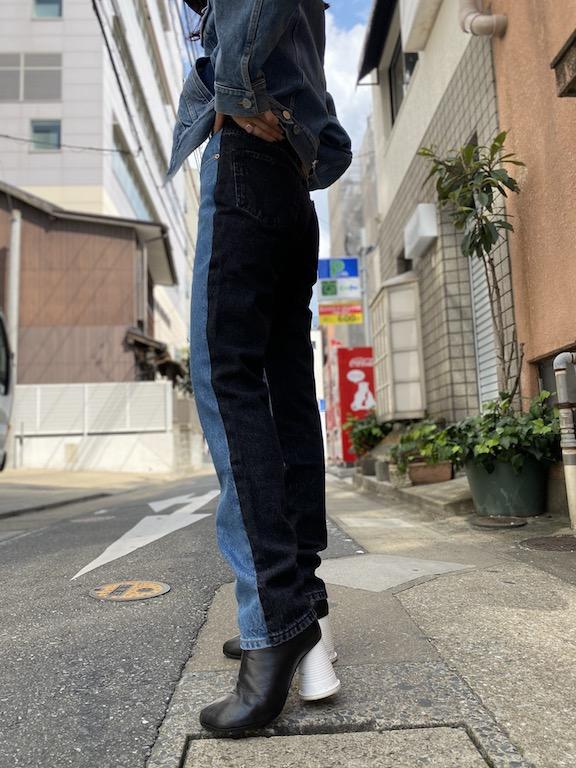 VETEMENTS 切替デニムパンツ【20AW】