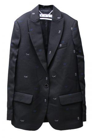 OFF-WHITE ロゴジャガードジャケット